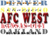 AFC West has one team representing them in the playoffs