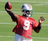 Miami Dolphins likely starter, David Garrard, sidelined.