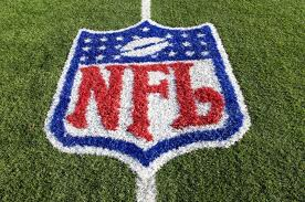 NFL logo - on the football field