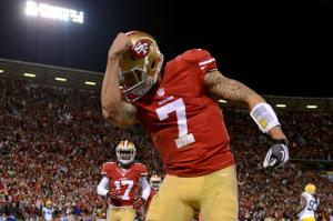 Can Colin Kaepernick cope without having Michael Crabtree to throw to for most of the season?