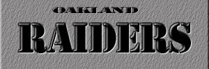 Oakland Raiders plaque - BTS